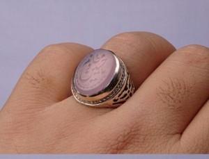 انگشتر عقیق کبود خطی-تصویر 2