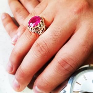 انگشتر نقره یاقوت-تصویر 2