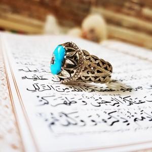 انگشتر نقره فیروزه نیشابور-تصویر 3
