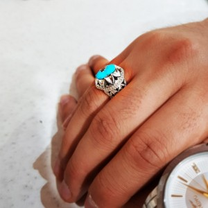 انگشتر نقره فیروزه نیشابور-تصویر 2