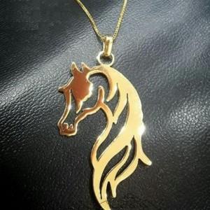 گردنبند طرح اسب نقره