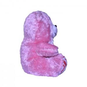 عروسک پوم پوم مدل خرس صورتی ارتفاع 27 سانتی متر-تصویر 2
