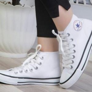 کفش دخترانه آل استار سفید ساق بلند