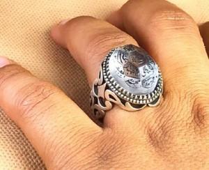 انگشتر در نجف اصلی حکاکی ۱۴معصوم-تصویر 2