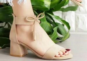 کفش وفش جلوپاپیونی پاشنه دار