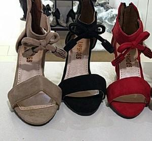 کفش وفش جلوپاپیونی پاشنه دار-تصویر 2
