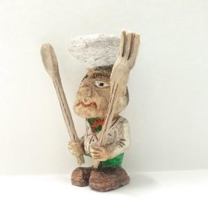 مجسمه چوبی یا آدمک چوبی طرح آشپز یا سرآشپز در رستوران , chef , food-تصویر 2