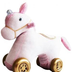 واکرچهارچرخه کودک اسب تکشاخ(باموزیک شیهه وچهار نعل اسب باچراغ چشمک زن)-تصویر 3