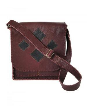 کیف دوشی دست دوز چرم طبیعی برند گل مریم-تصویر 2