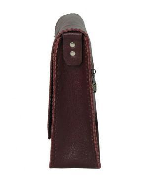 کیف دوشی دست دوز چرم طبیعی برند گل مریم-تصویر 3
