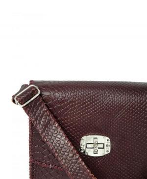 کیف دوشی پوست ماری دست دوز چرم طبیعی برند گل مریم-تصویر 5