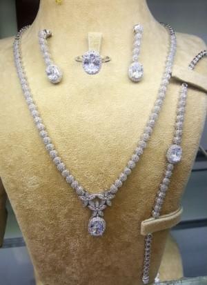 سرویس جواهری نقره
