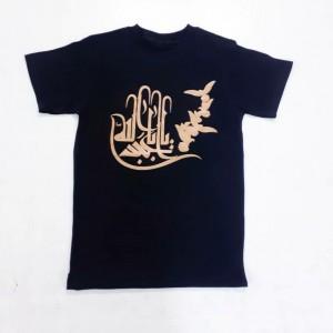 تی شرت مشکی محرمی پسرانه طرح یا اباعبدالله