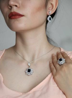 نیم ست جواهری نقره-تصویر 3