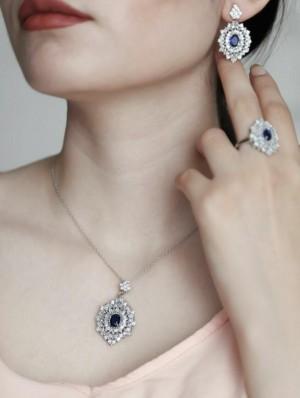 نیم ست جواهری نقره-تصویر 2