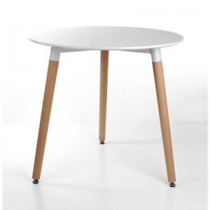 میز پایه چوبی گرد کد WR-80 گروه تولیدی نگین