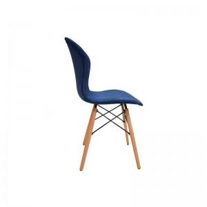 صندلی رستورانی پایه چوبی ایفلی تمام تشک ماهور-تصویر 2
