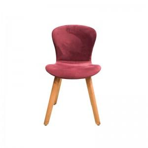 صندلی رستورانی پایه چوبی تمام تشک ماهور