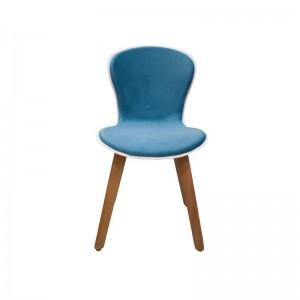 صندلی رستورانی پایه چوبی نیمه تشک ماهور