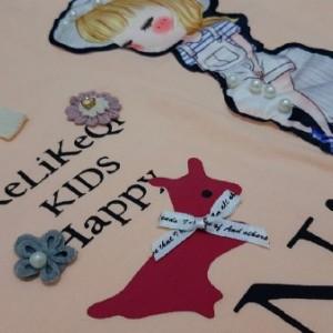 بلوز شلوار پاییزه دخترانه مروارید دوزی شده-تصویر 3