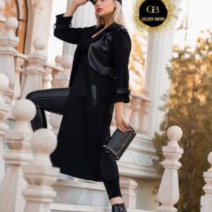 مانتو زنانه سوییت مدل سوییت کش خرجکار چرم-تصویر 2