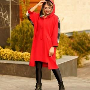 مانتو زنانه میکرو کیمونو جلو دکمه دار ترکیبی مدل آنجلا