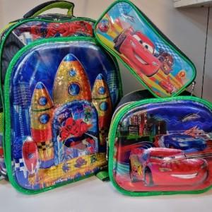 کیف سه تکه مدرسه ای پسرانه