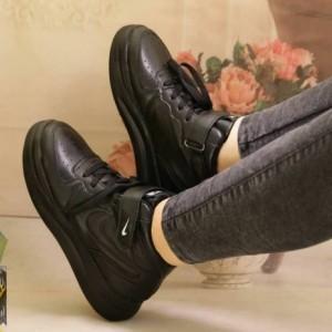 کفش کتونی دخترونه بندی-چسبی نایک-تصویر 2