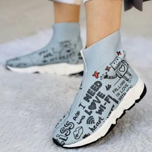 کفش کتونی بافتی ساقدار وای فای-تصویر 3