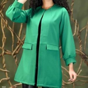 مانتو زنانه کرپ مدل پاییزه-تصویر 2