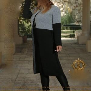 مانتو زنانه نخی یونیک شاپ مدل مانتو بافت-تصویر 3
