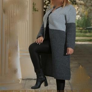 مانتو زنانه نخی یونیک شاپ مدل مانتو بافت-تصویر 2