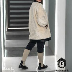 پالتو پوست ترکیب با چرم مدل لینزا-تصویر 3