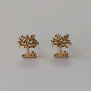 گوشواره زنانه مدل میخی طرح درخت کد tre110-تصویر 4