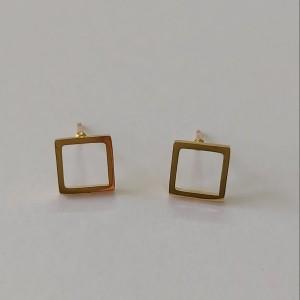 گوشواره زنانه مدل میخی طرح مربع کد shape110