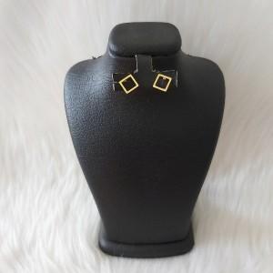 گوشواره زنانه مدل میخی طرح مربع کد shape110-تصویر 2