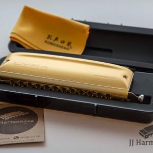سازدهنی کروماتیک کنگشنگ لایرا طلایی KONGSHENG Lyra SC-12 Gold-تصویر 2