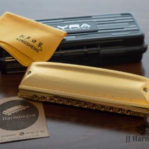 سازدهنی کروماتیک کنگشنگ لایرا طلایی KONGSHENG Lyra SC-12 Gold-تصویر 4