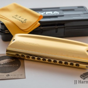 سازدهنی کروماتیک کنگشنگ لایرا طلایی KONGSHENG Lyra SC-12 Gold