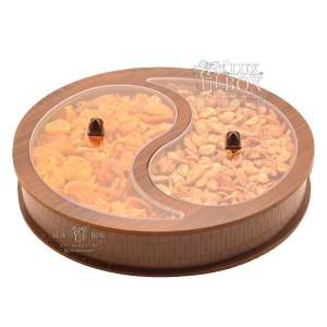 جعبه چوبی جعبه پذیرایی جعبه آجیل و دمنوش لوکس باکس کد LB36-11