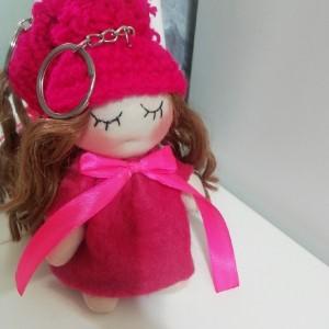 عروسک روسی سایز کوچک صورتی-تصویر 3