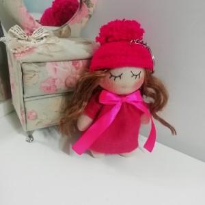 عروسک روسی سایز کوچک صورتی