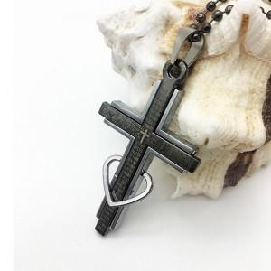 آویز مردانه استیل صلیب-تصویر 2