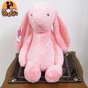 عروسک پولیشی خرگوش جلی کت صورتی رنگ-تصویر 2