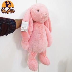 عروسک پولیشی خرگوش جلی کت صورتی رنگ