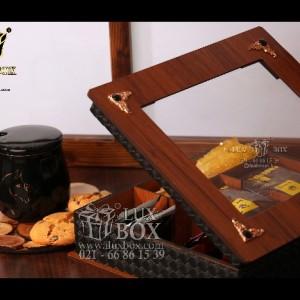 جعبه پذیرایی جعبه دمنوش جعبه چوبی لوکس باکس کد LB52