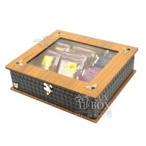 جعبه پذیرایی جعبه دمنوش جعبه چوبی لوکس باکس کد LB52-تصویر 2