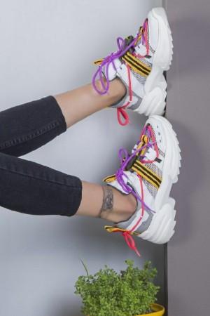 کفش کتانی خارجی اصل رویه تور و اشبالتBa-تصویر 4