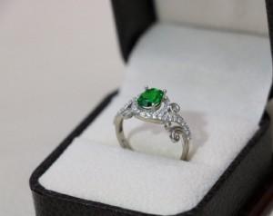 انگشتر ظریف و زیبای نقره