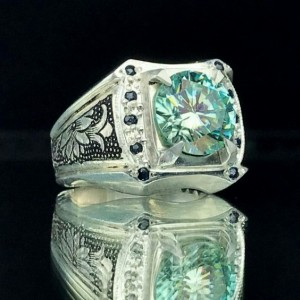 انگشتر موزانایت اصلی (الماس روسی)